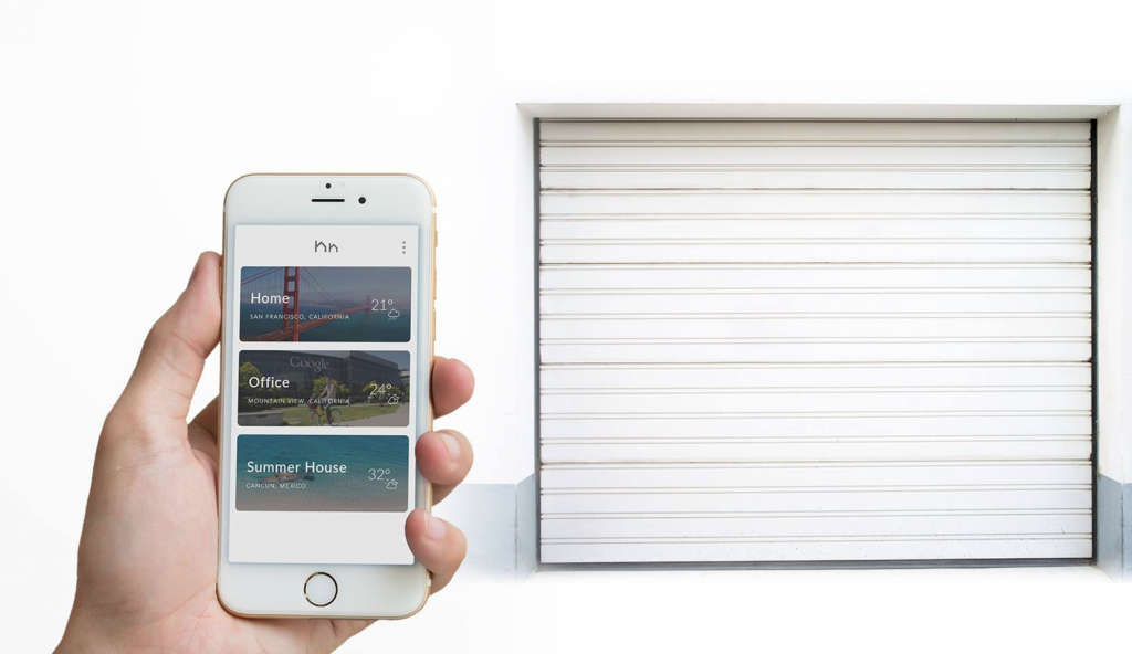 HomyHub lets you control access to your garage door through your smartphone.