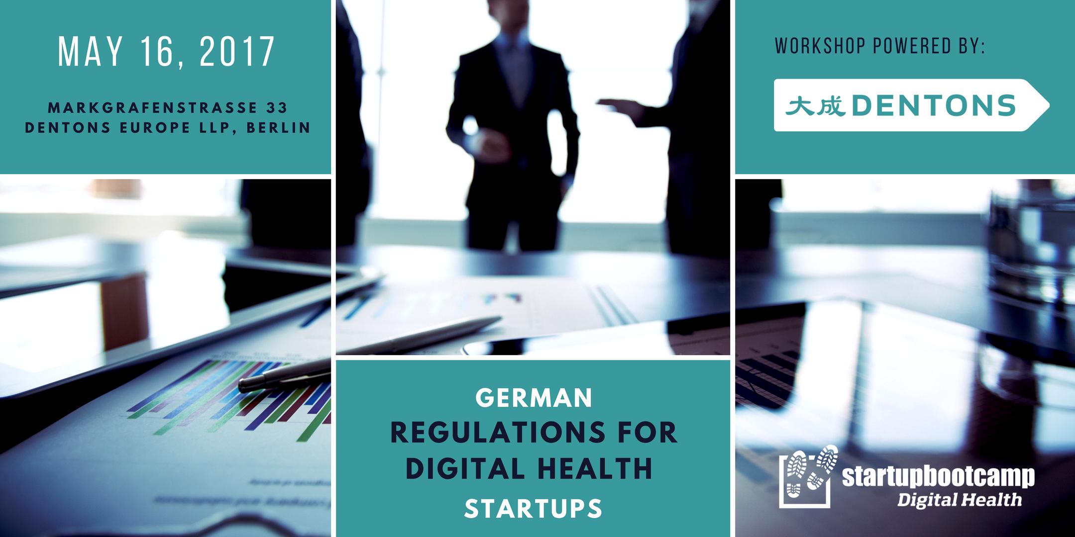 german regulations meetup digital health startups
