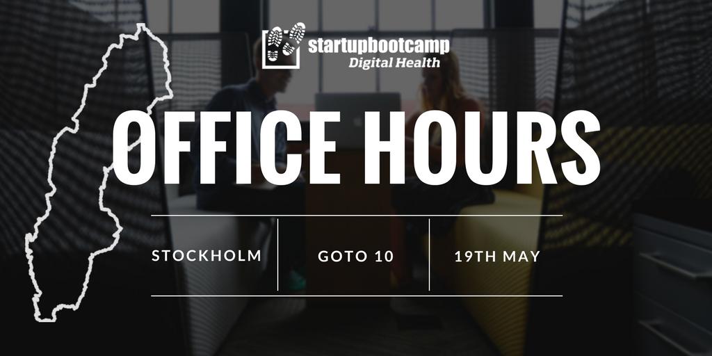 office hours stockholm digital health startupbootcamp