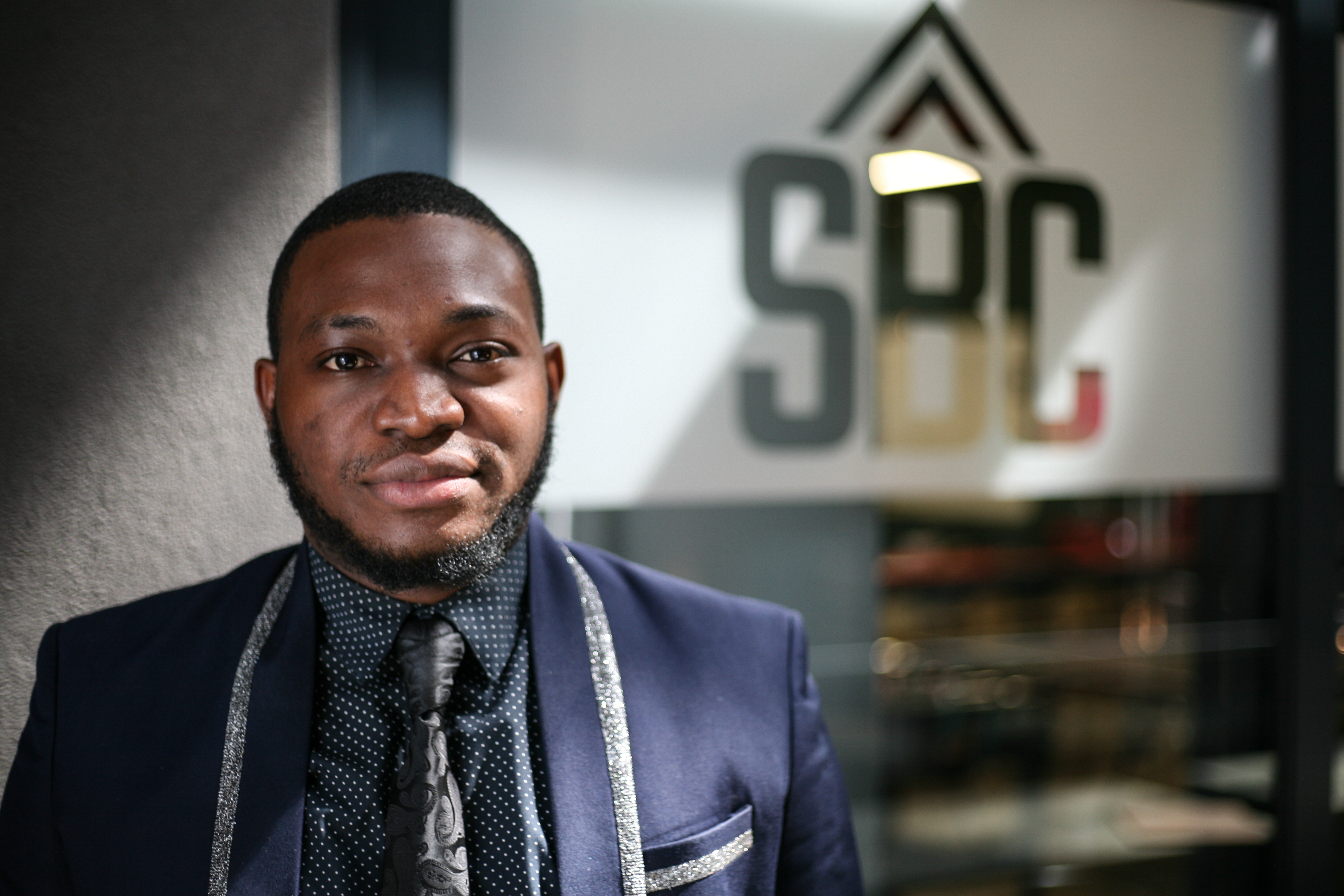 Dr. Charles Immanuel Akhimien is the co founder of MOBicure pictured here at the Startupbootcamp Cape Town office