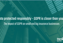 Get data protected responsibly, GDPR is closer than you think – the impact of GDPR on small and big insurance businesses