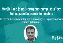 Leading insurance innovation & InsurTech expert Manjit Rana joins Startupbootcamp InsurTech to head up Corporate Innovation practice