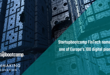 Startupbootcamp FinTech named as one of Europe's 100 digital pioneers