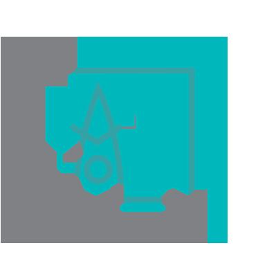 Testing pad icon